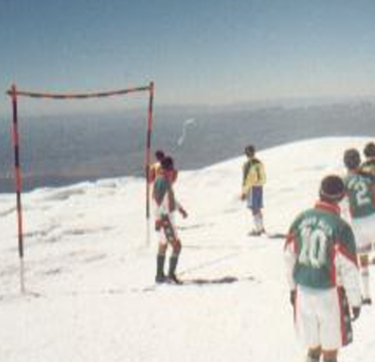 Soccer game on Sajama.
